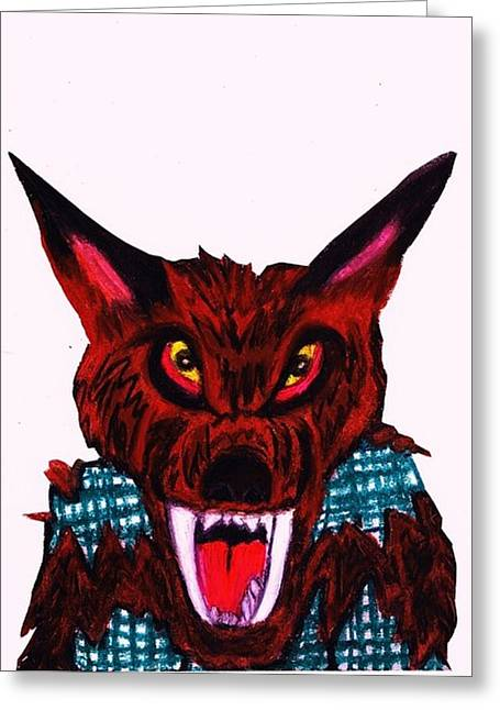 Monster Pastels Greeting Cards - The Werewolf  Greeting Card by Jo-Ann Hayden