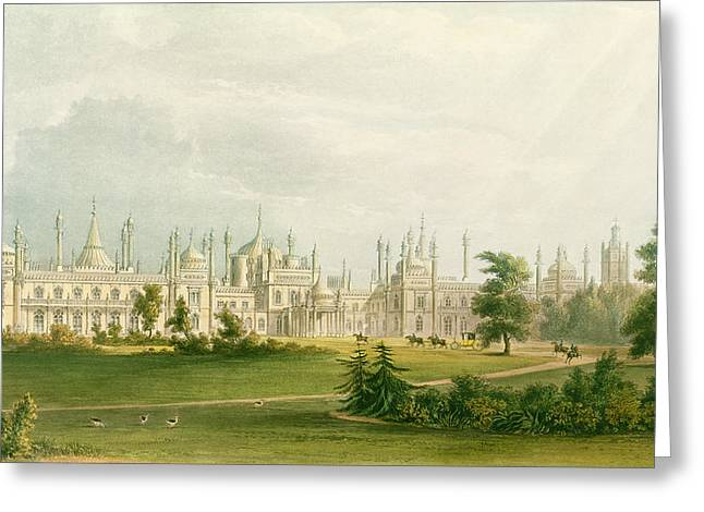 19th Century Architecture Greeting Cards - The West Front, From Views Of The Royal Greeting Card by English School