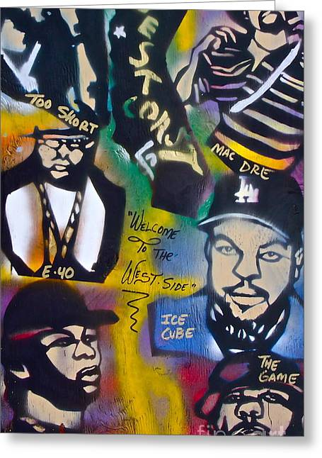 The West Side  Greeting Card by Tony B Conscious