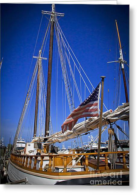 Historic Schooner Greeting Cards - The Western Union Stands Proud Greeting Card by Rick Bravo