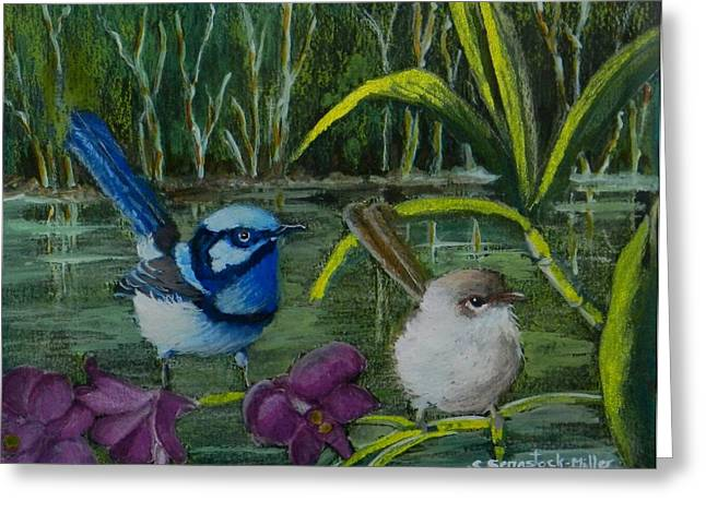 Jenny Mixed Media Greeting Cards - The Wetlands Greeting Card by Sandra Sengstock-Miller