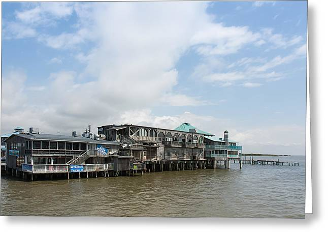 The Wharf At Cedar Key Greeting Card by John Bailey
