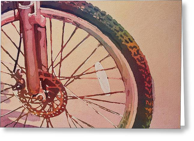 The Wheel in Color Greeting Card by Jenny Armitage