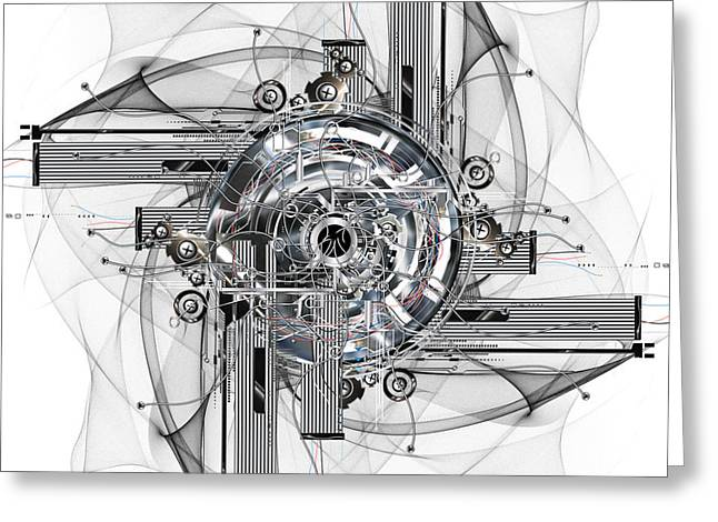 Mechanism Greeting Cards - The wheel of time turns Greeting Card by Diuno Ashlee