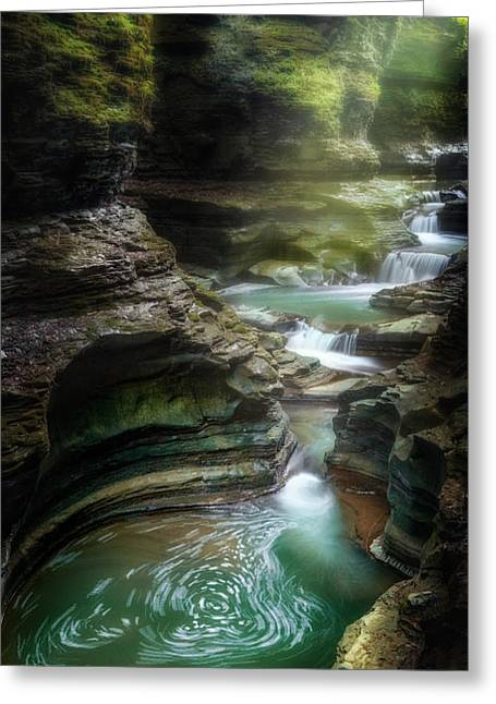 Seneca Valley Greeting Cards - The Whirlpool Greeting Card by Bill  Wakeley