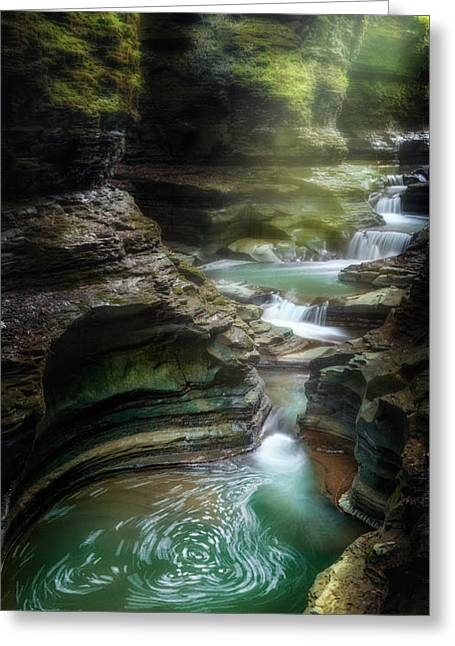 The Whirlpool Greeting Card by Bill Wakeley
