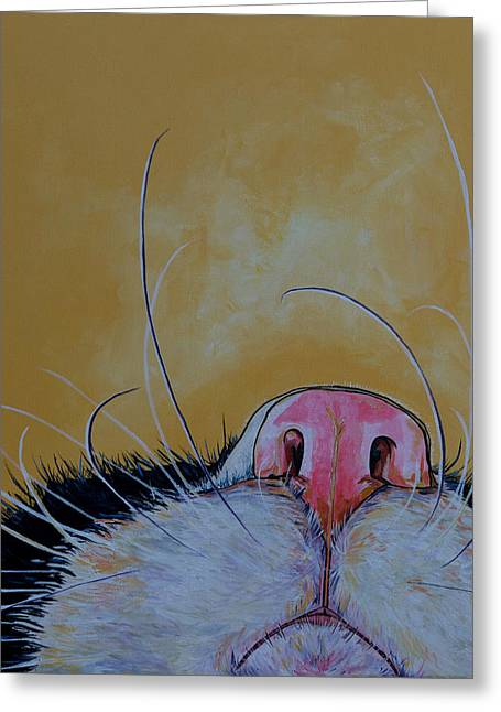 Commission Work Greeting Cards - The Whiskers Greeting Card by Patti Schermerhorn
