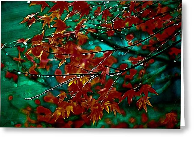 Mario Carini Paintings Greeting Cards - The Whispering Leaves of Autumn Greeting Card by Mario Carini