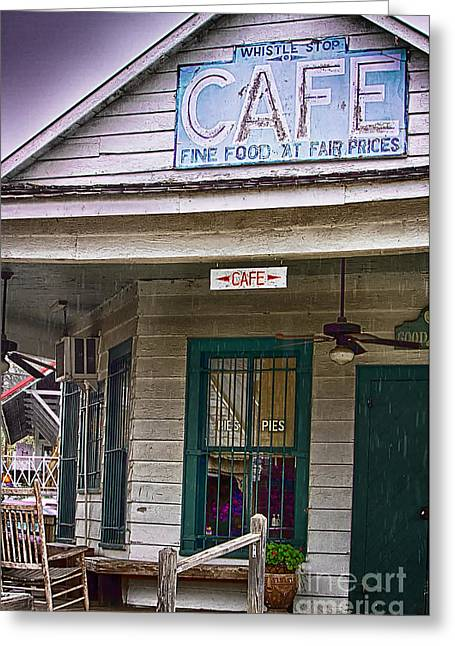 The Whistle Stop Cafe Greeting Card by Anne Rodkin