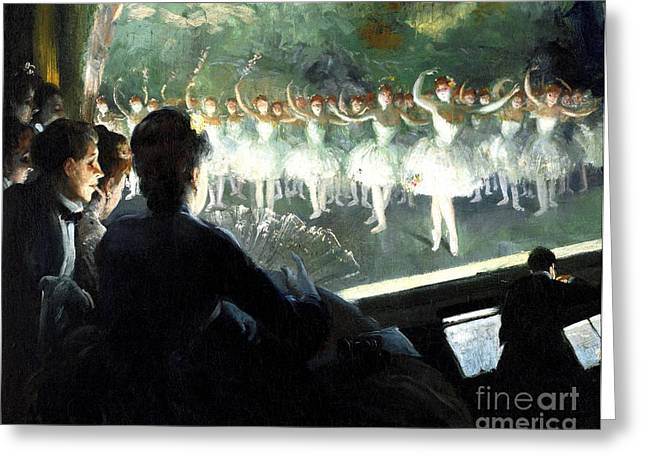 The White Ballet Greeting Card by Pg Reproductions