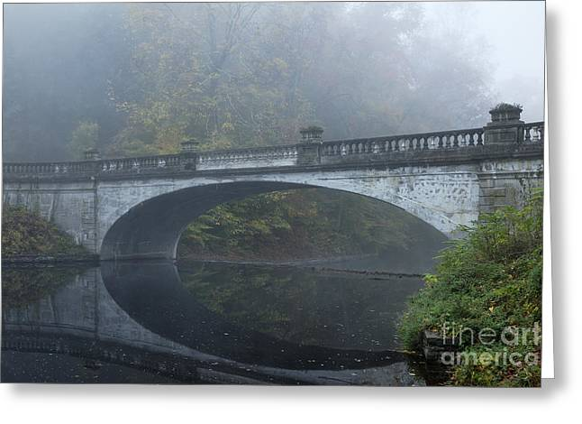 Beaux-arts Greeting Cards - The White Bridge Greeting Card by John Greim
