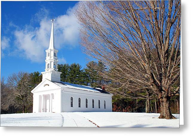 Sudbury Ma Greeting Cards - The White Chapel Greeting Card by Roberto De Souza