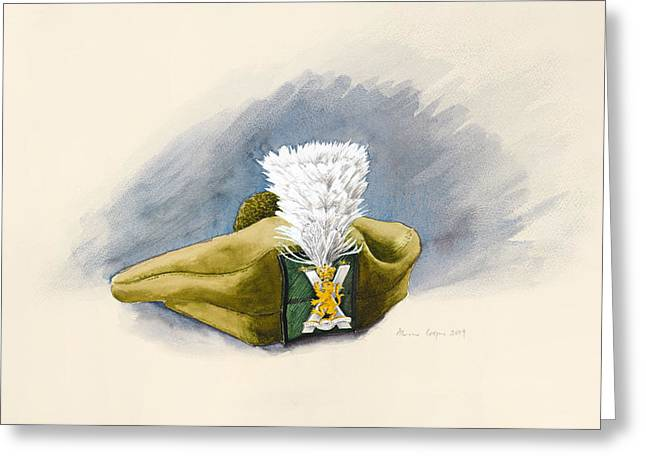 Highlands Of Scotland Greeting Cards - The White Hackle Greeting Card by Alison Cooper