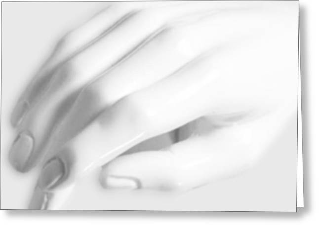 Print On Acrylic Greeting Cards - The White Hand Greeting Card by Tony Rubino