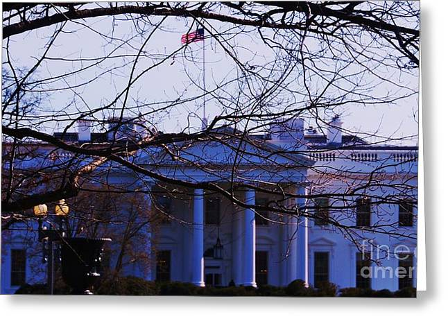 Seat Of Power Greeting Cards - The  White House 6 Greeting Card by Marcus Dagan