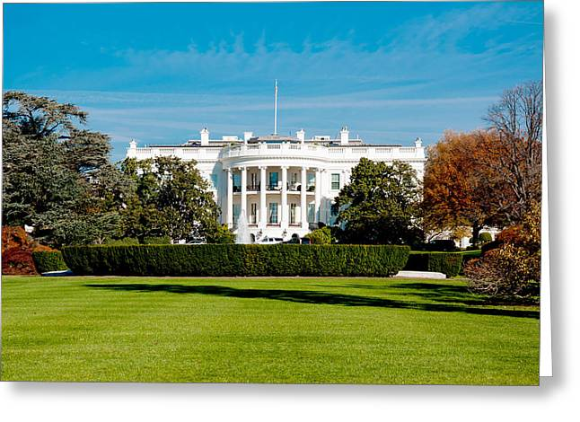 The White House Photographs Greeting Cards - The White House Greeting Card by Greg Fortier