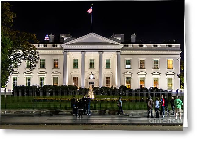 White Frame House Digital Greeting Cards - The White House Greeting Card by Jerry Fornarotto