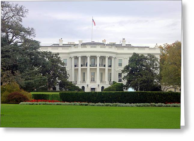Politics Prints Digital Art Greeting Cards - The White House Greeting Card by Todd Breitling