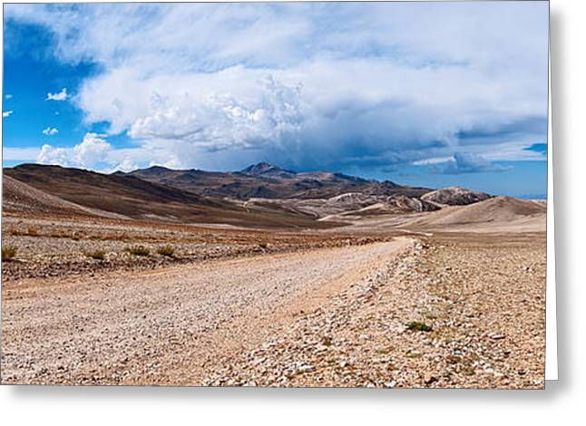 Granite Bedrock Greeting Cards - The White Mountains Panorama from the Inyo National Forest. Greeting Card by Jamie Pham
