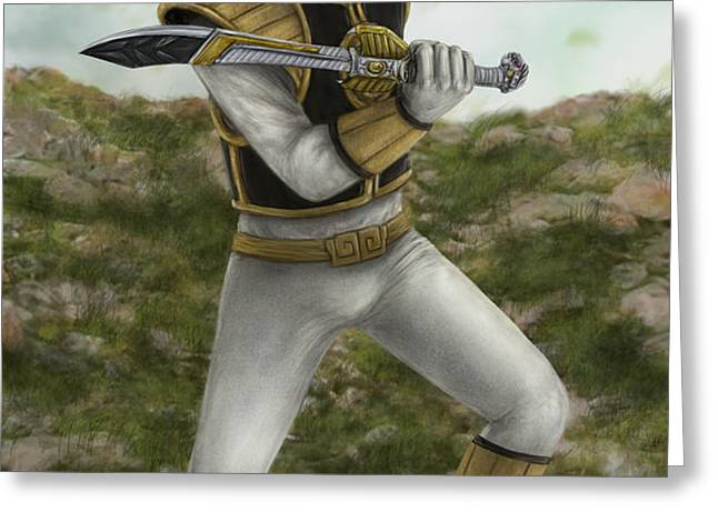 The White Ranger Greeting Card by Michael Tiscareno