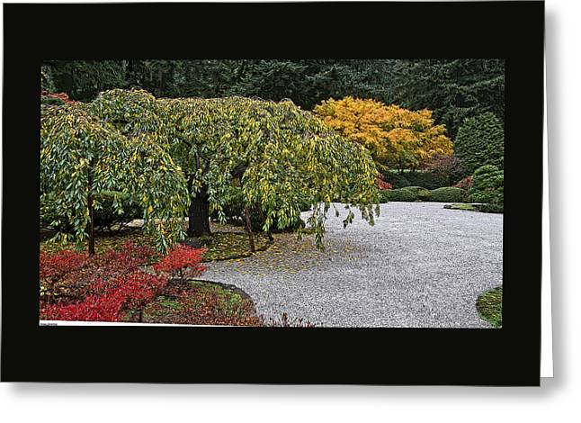 Art For Sale Greeting Cards - The White Sand At Japanese Gardens Greeting Card by Thom Zehrfeld