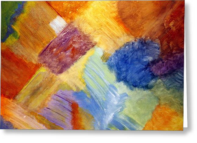 Abstract Expressionist Greeting Cards - The White Square Greeting Card by Karyn Robinson