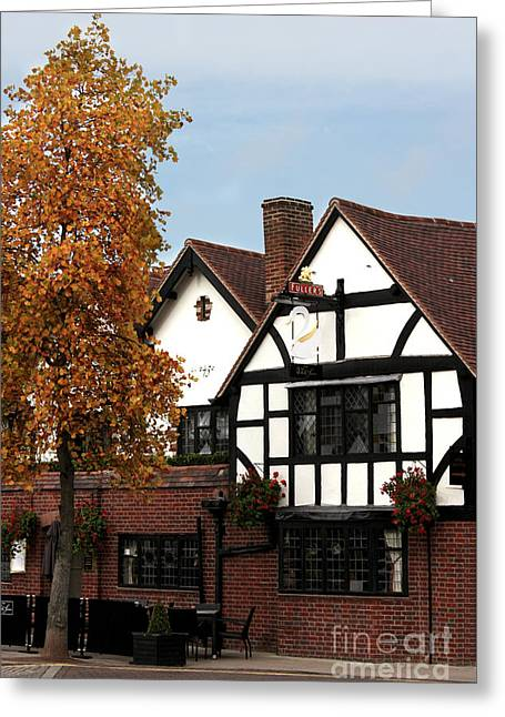 Terri Waters Greeting Cards - The White Swan Stratford Greeting Card by Terri  Waters