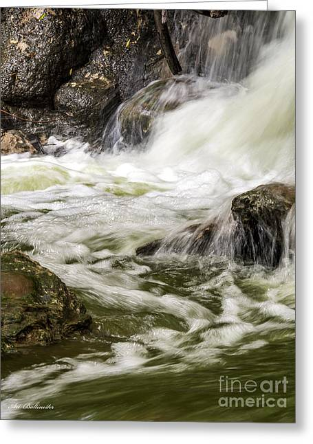 Color Photography Greeting Cards - The white waterfalls 03 Greeting Card by Arik Baltinester