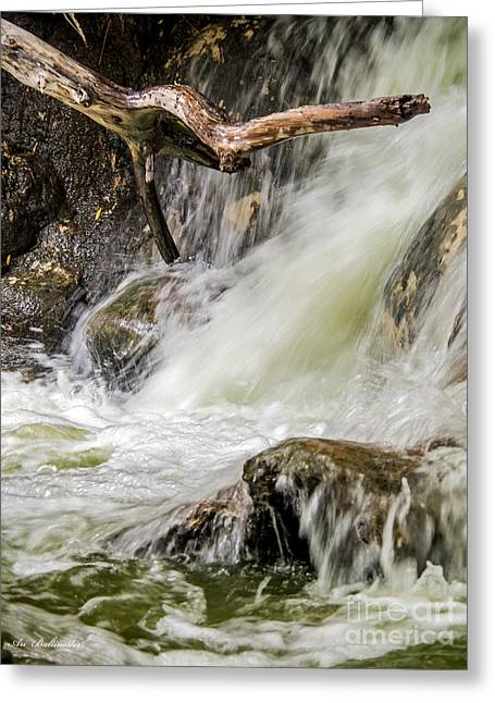 River Greeting Cards - The white waterfalls Greeting Card by Arik Baltinester