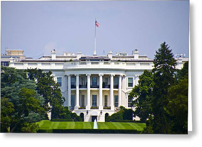 The Whitehouse - Washington Dc Greeting Card by Bill Cannon