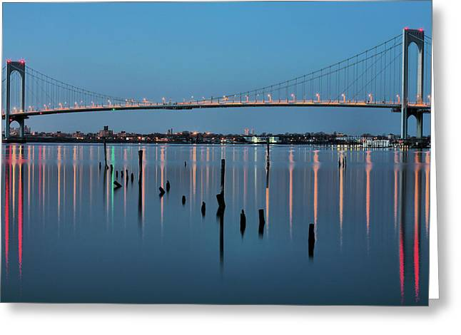 Long Island Sound Greeting Cards - The Whitestone Greeting Card by JC Findley