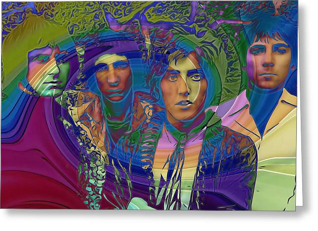 Influential Greeting Cards - The Who Color Warp Greeting Card by Dan Sproul
