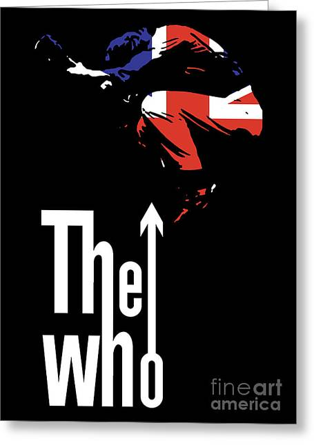 Black Greeting Cards - The Who No.01 Greeting Card by Caio Caldas