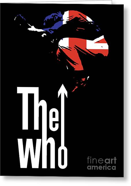 Rock Roll Greeting Cards - The Who No.01 Greeting Card by Caio Caldas