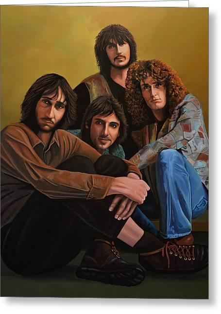 The Who Greeting Card by Paul Meijering