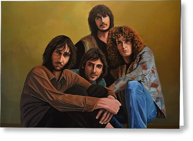 Live Paintings Greeting Cards - The Who Greeting Card by Paul Meijering