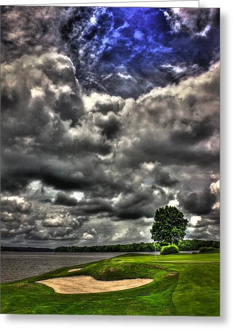 Golf Hole Greeting Cards - The WHole Sky Greeting Card by Reid Callaway
