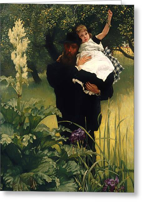 Man Dressed In Black Greeting Cards - The Widower Greeting Card by James Tissot