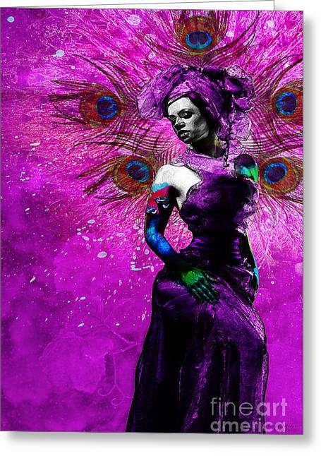 The Wife Manifestation Oshun Greeting Card by Cody Norris