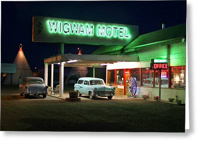 The Wigwam Motel On Route 66 2 Greeting Card by Mike McGlothlen