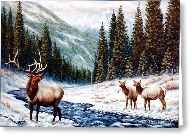Park Scene Paintings Greeting Cards - The Wild Country Greeting Card by Tom  Chapman