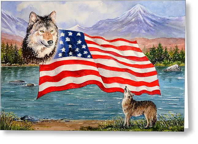 4th July Greeting Cards - The Wildlife Freedom collection 1 Greeting Card by Andrew Read