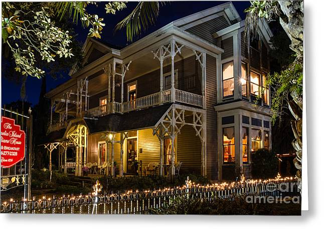 Beach At Night Greeting Cards - The Williams House Fernandina Beach Florida Greeting Card by Dawna  Moore Photography