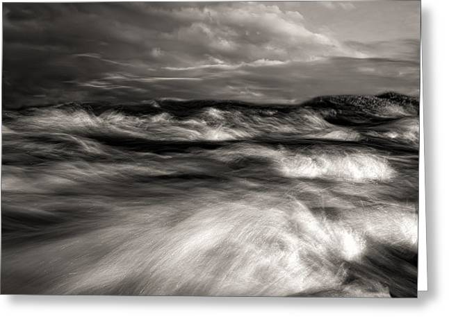 The Wind And The Sea Greeting Card by Bob Orsillo