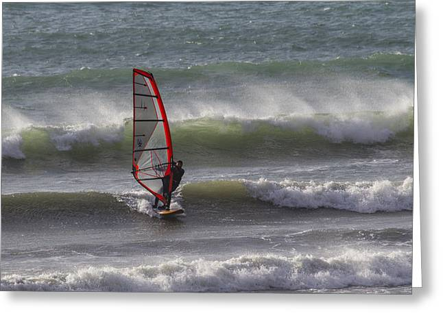 Wind Surfer Greeting Cards - The Wind Surfer Greeting Card by Brian Roscorla