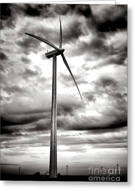 Renewable Greeting Cards - The Windmaster Greeting Card by Olivier Le Queinec