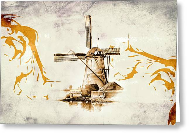 Vale Greeting Cards - The windmill 04 Greeting Card by Rafal Kulik