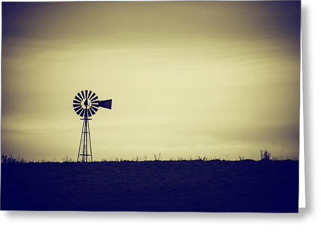 Will Power Greeting Cards - The Windmill Greeting Card by Karol  Livote