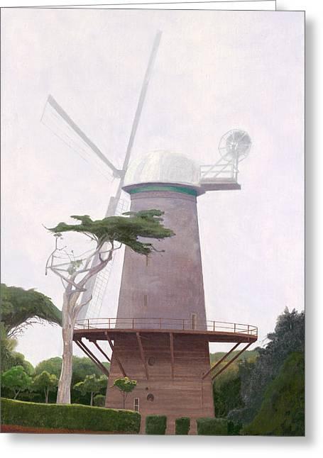 Leonard Filgate Greeting Cards - The Windmill Greeting Card by Leonard Filgate