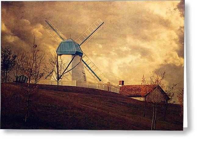 Old House Photographs Greeting Cards - The Windmill Greeting Card by Maria Angelica Maira